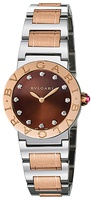 Bulgari   Stainless Steel And Rose Gold Brown Dial Women's Watch BBL26C11SPG/12