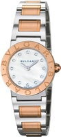 Bulgari   Stainless Steel And Rose Gold Mother of Pearl Dial Women's Watch BBL26WSPG/12