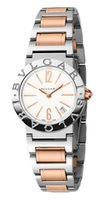Bulgari   Rose Gold and Stainless Steel White Dial Women's Watch BBL26WSSPGD