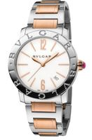 Bulgari   Rose Gold and Stainless Steel White Dial Women's Watch BBL33WSSPGD
