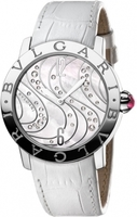 Bulgari   Mother of Pearl Wave Motif Women's Watch BBL37WCDSL