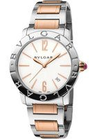 Bulgari   Rose Gold and Stainless Steel White Dial Women's Watch BBL37WSSPGD