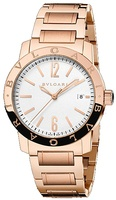 Bulgari   Silver Opaline Dial Rose Gold Men's Watch BBP39WGGD
