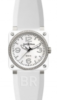 Bell & Ross Aviation  Automatic 42mm Men's Watch BR03-92-White-Ceramic-Rubber