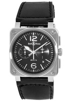 Bell & Ross Aviation   Men's Watch BR0394-BL-SI/SCA