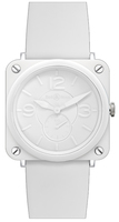 Bell & Ross Aviation BR-S Ceramic Quartz 39mm  Women's Watch BRS-White-Ceramic-Phantom