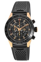 Tag Heuer Carrera Calibre Heuer 01 Skeleton Dial Rose Gold & Titanium Case Rubber Strap Men's Watch CAR2A5A.FT6044