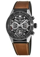 Tag Heuer Carrera Tourbillon Brown Leather Men's Watch CAR5A8Y.FT6072