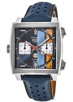 Tag Heuer Monaco Limited Edition Gulf RACING 50TH Anniversary Steve McQueen Men's Watch CAW211R.FC6401