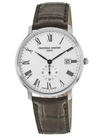 Frederique Constant Slimline  White Dial Brown Leather Men's Watch FC-245WR5S6DBR