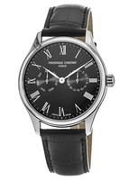 Frederique Constant Classic  Black Dial Black Leather Men's Watch FC-259BR5B6