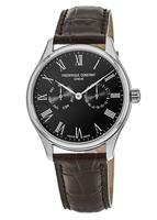 Frederique Constant Classic  Black Dial Brown Leather Men's Watch FC-259BR5B6DBR