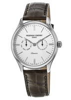 Frederique Constant Classic  White Dial Brown Leather Men's Watch FC-259BRST5B6