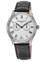 Frederique Constant Classic  Silver Dial Black Leather Strap Men's Watch FC-259WR5B6