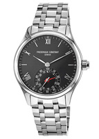 Frederique Constant Horological Smartwatch  Black Dial Stainless Steel Men's Watch FC-285B5B6B