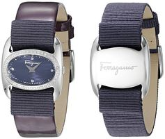 Salvatore Ferragamo Varina  Purple Dial with Interchangeable Strap Women's Watch FIE040015