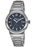 Salvatore Ferragamo F-80  Blue Dial Stainless Steel Men's Watch FIF030015