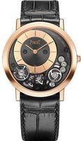 Piaget Altiplano  Black Dial Black Leather Strap Women's Watch G0A41011