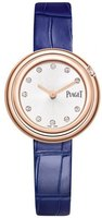 Piaget Possession  Silver Diamond Dial Blue Leather Strap Women's Watch G0A43081