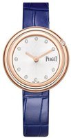 Piaget Possession  Silver Diamond Dial Blue Leather Strap Women's Watch G0A43091