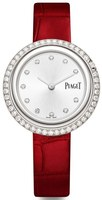 Piaget Possession  Silver Diamond Dial Burgundy Leather Strap Women's Watch G0A43094