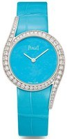 Piaget Limelight Gala Turquoise Dial Diamond Turquoise Leather Strap Women's Watch G0A43161