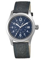 Hamilton Khaki Field  Blue Dial Blue Fabric Men's Watch H68201943