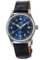 IWC Pilot's  Automatic Blue Dial Leather Strap Unisex Watch IW324008