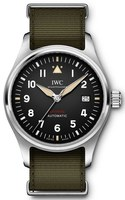 IWC Pilot's Automatic Spitfire Black Dial Green Strap Men's Watch IW326801