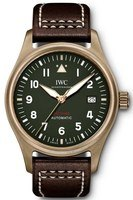 IWC Pilot's Automatic Spitfire Green Dial Brown Leather Strap Men's Watch IW326802