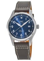 IWC Pilot's Mark XVIII Blue Dial Le Petit Prince Edition Steel Brown Leather Strap Men's Watch IW327010