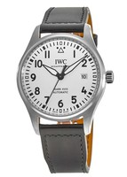 IWC Pilot's Mark XVIII Silver Dial Black Leather Strap Men's Watch IW327012