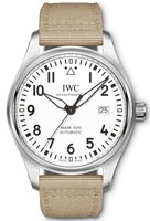 IWC Pilot's Mark XVIII Silver Dial Beige Strap Men's Watch IW327017