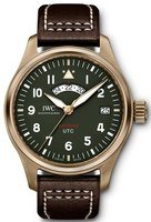 "IWC Pilot's UTC Spitfire Edition ""MJ271"" Green Dial Brown Leather Strap Men's Watch IW327101"
