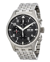 IWC Pilot's Chronograph Spitfire Grey Dial Steel Men's Watch IW377719