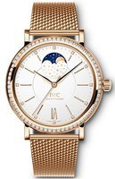 IWC Portofino Automatic Moon Phase 37 Silver Dial Rose Gold Women's Watch IW459010
