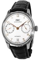 IWC Portugieser Automatic 7 Days Power Reserve Silver Dial Leather Strap Men's Watch IW500704