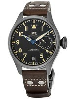 IWC Big Pilot's Heritage Titanium Black Dial Brown Leather Men's Watch IW501004