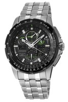Citizen Promaster Skyhawk A-T  Black Chronograph Dial Stainless Steel Men's Watch JY8051-59E