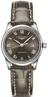 Longines Master Collection Automatic 29mm Grey Dial Grey Leather Women's Watch L2.257.4.71.3