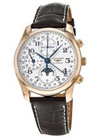 Longines Master Collection Moonphase 40mm Chronograph 18K Gold Men's Watch L2.673.8.78.3