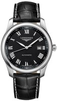 Longines Master Collection Automatic 40mm Black Dial Black Leather Men's Watch L2.793.4.51.7