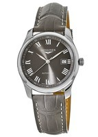 Longines Master Collection Automatic 40mm Grey Dial Grey Leather Men's Watch L2.793.4.71.3
