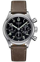 Longines Heritage Avigation Big Eye Black Dial Brown Leather Men's Watch L2.816.4.53.2