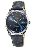 Longines Master Collection Automatic 42mm Blue Dial Blue Leather Men's Watch L2.893.4.92.2
