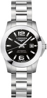 Longines Conquest Automatic Black Dial Stainless Steel Women's Watch L3.276.4.56.6