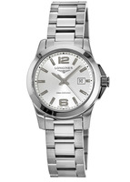 Longines Conquest Quartz Silver Dial Women's Watch L3.376.4.76.6
