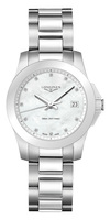 Longines Conquest  Mother of Pearl Diamond Dial Women's Watch L3.377.4.87.6