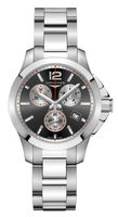 Longines Conquest  Grey Chronograph Dial Men's Watch L3.379.4.79.6