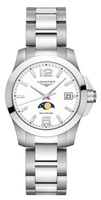 Longines Conquest  Matte White Dial Women's Watch L3.381.4.16.6